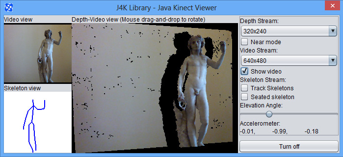Java for Kinect (J4K) Library